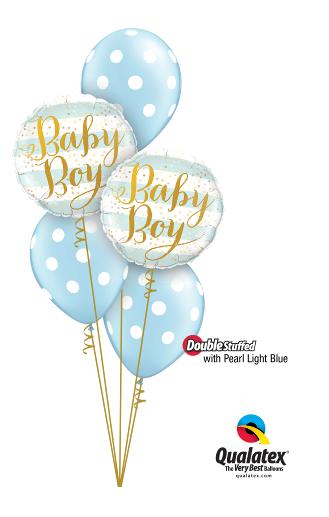 Baby Boy Foil & Latex Cluster