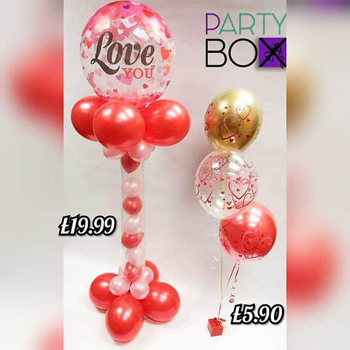 Tall 6ft Gumball with Bubble topper