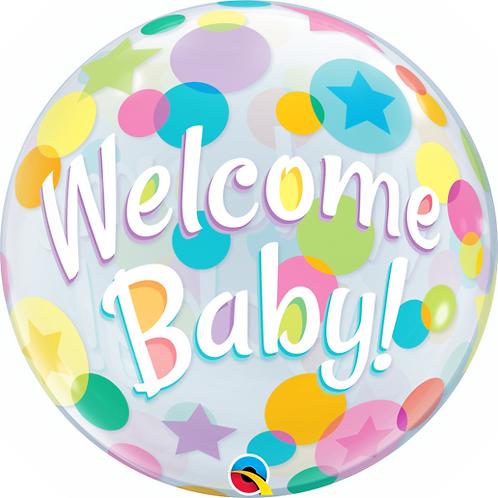 Welcome Baby Bubble Ballon