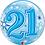 Thumbnail: Blue Bubble Balloon Age 18 - 60 Open Birthday