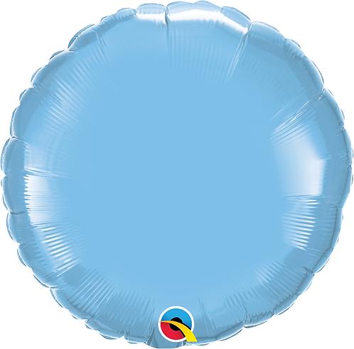 "18"" Light Blue Circle Foil Balloon"