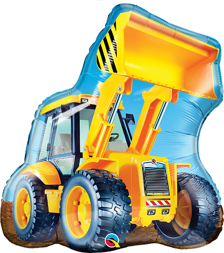 Large Tractor / Digger Foil Balloon