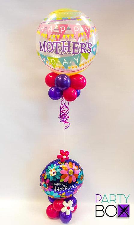 Floral Balloon Bubble with Balloon Base