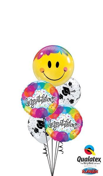 Graduation Congratulations Foil Balloon Cluster