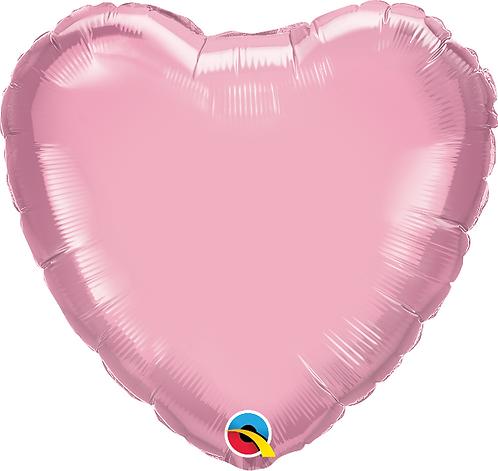 "18"" Pastel Pink Heart Foil Balloon"