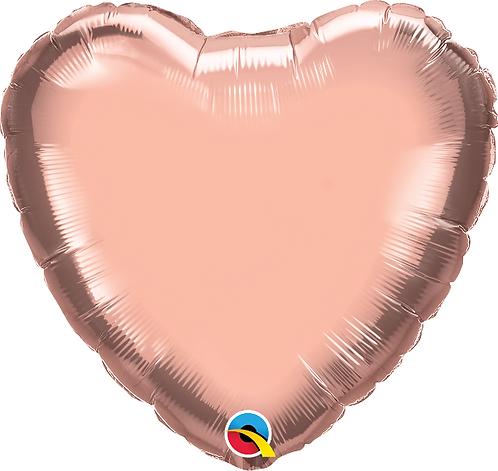 """18"""" Rose Gold Heart Foil Balloon"""