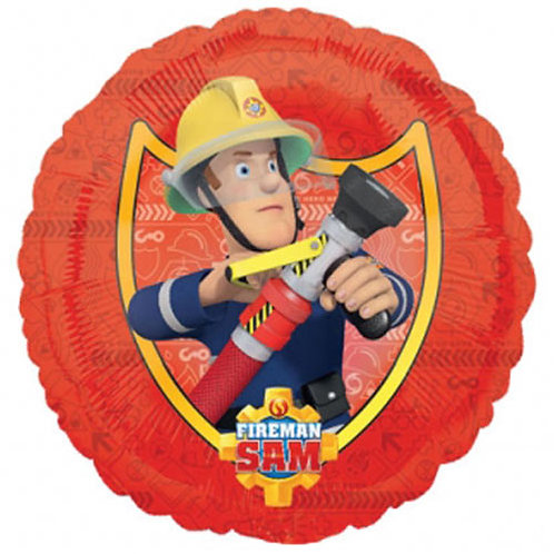 "Fireman Sam 18"" Foil With 2 Latex To Match"