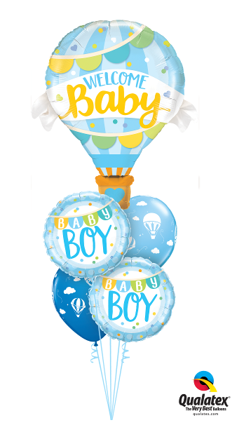 Large Baby Boy Foil & Latex Cluster