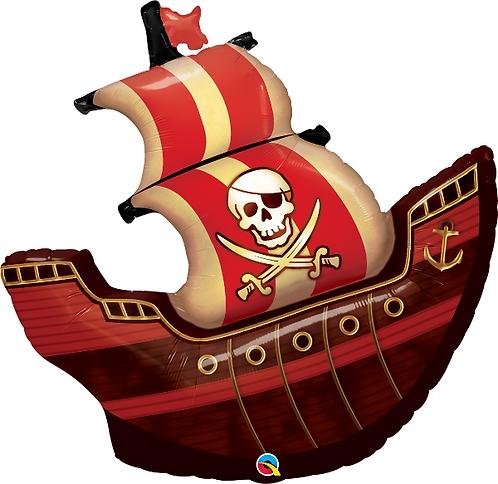 Large Pirate Ship Foil Balloon