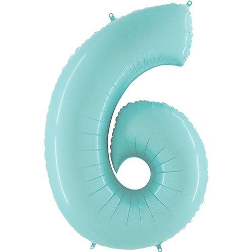 """Pastel Blue 34"""" 0 - 9 Number Foils"""