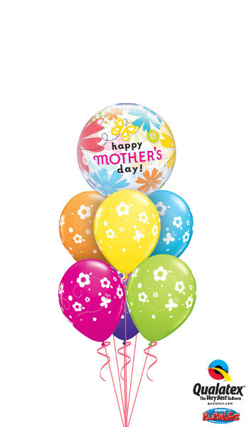 Mothers Day Bubble Balloon With 6 Latex