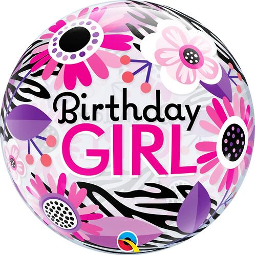 Birthday Girl Bubble Balloon