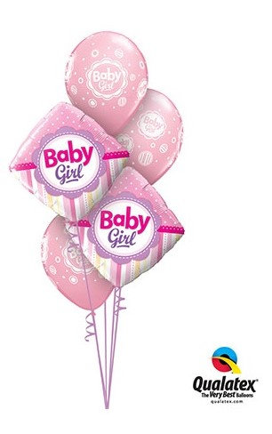 Baby Girl Foil Cluster