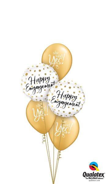 Happy Engagement Foil & Latex Cluster