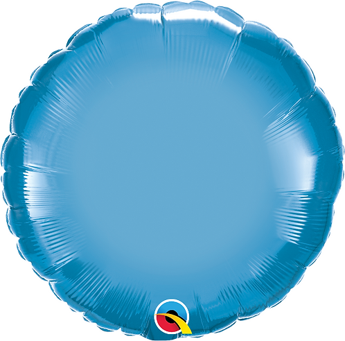 "18"" Chrome Blue Circle Foil Balloon"