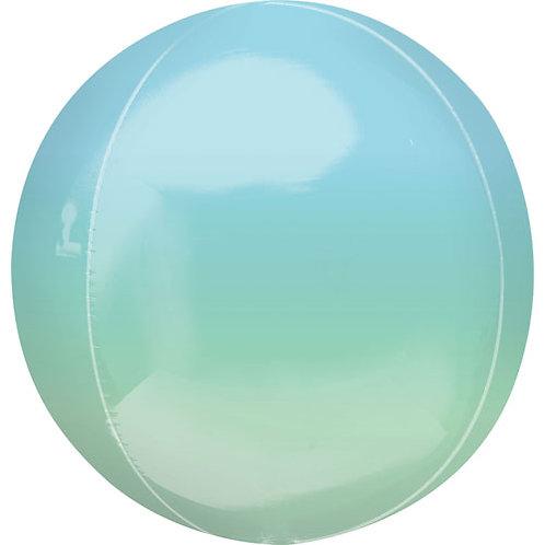 Green & Blue Ombre Orbs Balloon