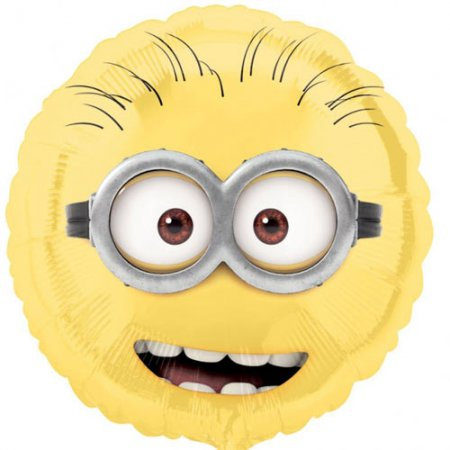 """Minion Head 18"""" Foil With 2 Latex To Match"""