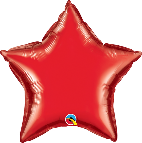 "18"" Ruby Red Star Balloon"