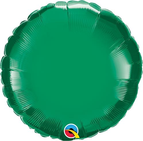 "18"" Green Circle Foil Balloon"