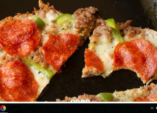 Кето пицца на сковородке.