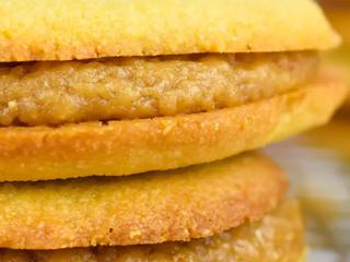 Аргентинское кето печенье с карамелью.