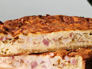 Французский пирог с сырно-сливочным кремом.