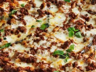 Низкоуглеводная пицца с баклажанами