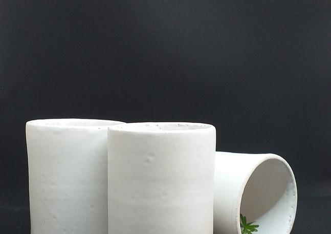 Verres - blanc mat