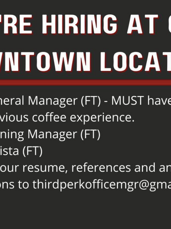 Downtown Open Positions