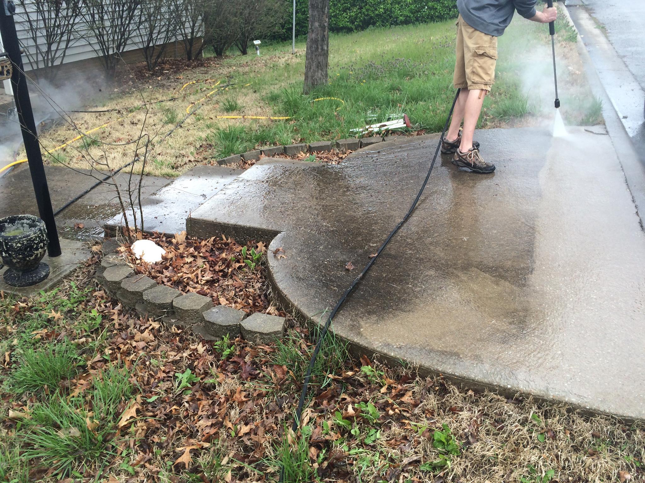 Driveway Power Wash