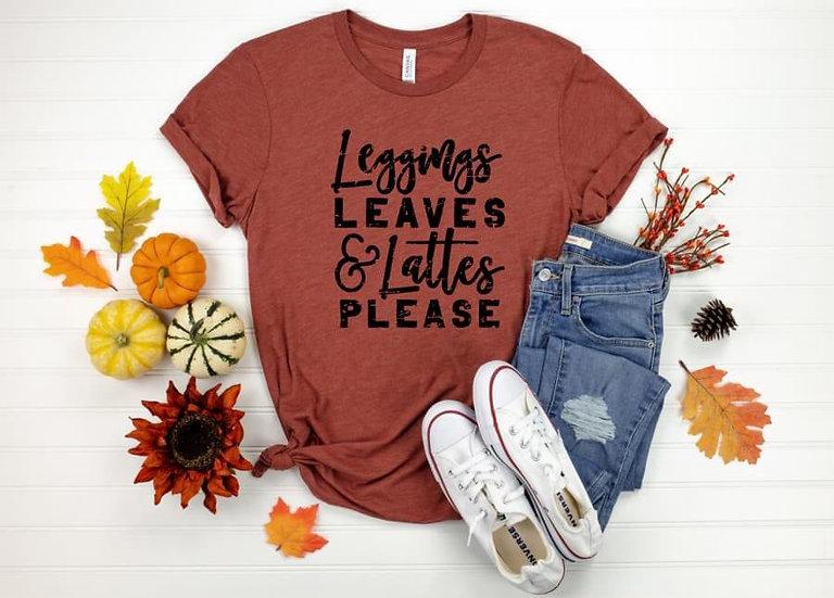 Leggings Leaves and Lattes Please