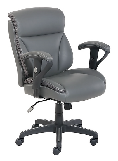 Dormeo C200 Bonded Leather Task Chair (Slate Gray)