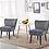 Thumbnail: Giantex Velvet Accent Chair (Grey)