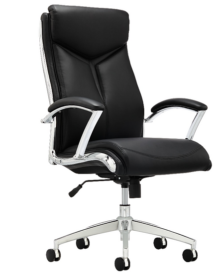 Realspace® Verismo Modern Comfort Executive Bonded Leather High-Back Chair