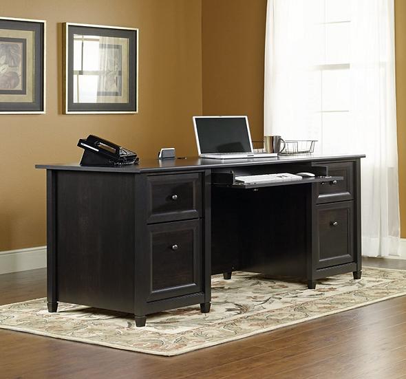 Sauder Edge Water Executive Desk (Estate Black Finish)