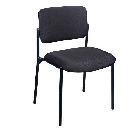 Milano Guest Chair Black-  No Arm