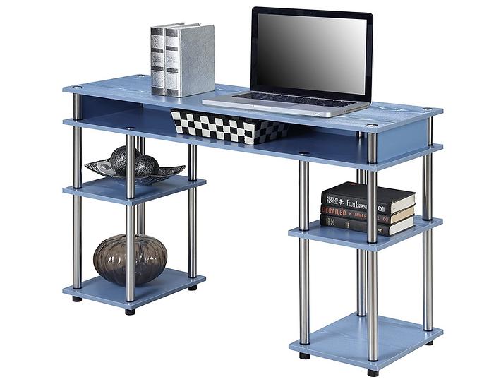 Convenience Concepts Coloured Modern Desk (Blue)
