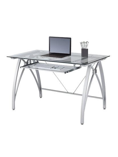 Realspace Vista Glass Computer Desk