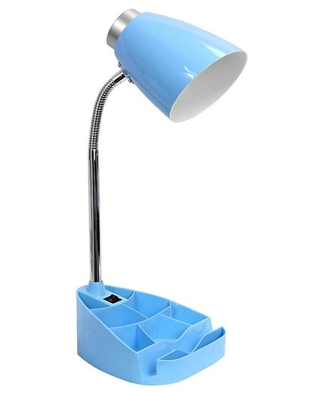 Limelight Gooseneck Desk Lamp with Organizer (Blue)