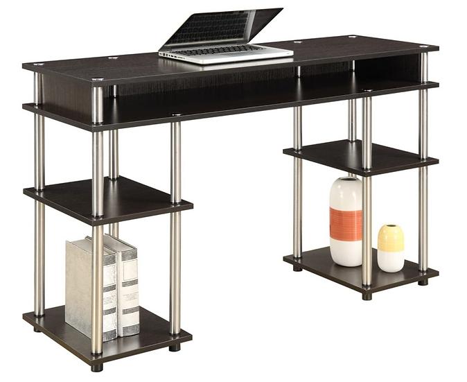 Convenience Concepts Coloured Modern Desk (Espresso)