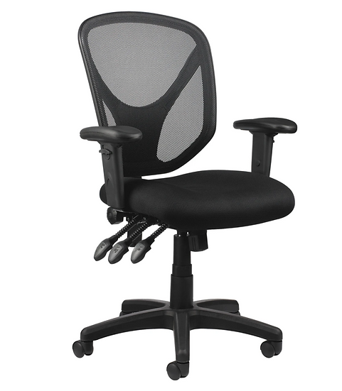 Realspace® MFTC 200 Mesh Multifunction Ergonomic Mid-Back Task Chair (Black)