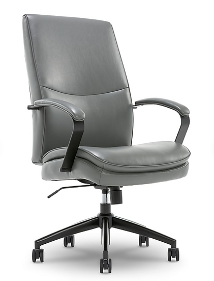 Beautyrest Malachy Faux Leather Manager Chair (Gray)