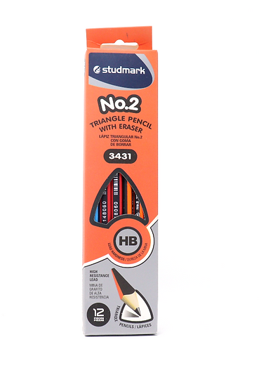 Studmark HB2 Triangle Pencil with Eraser