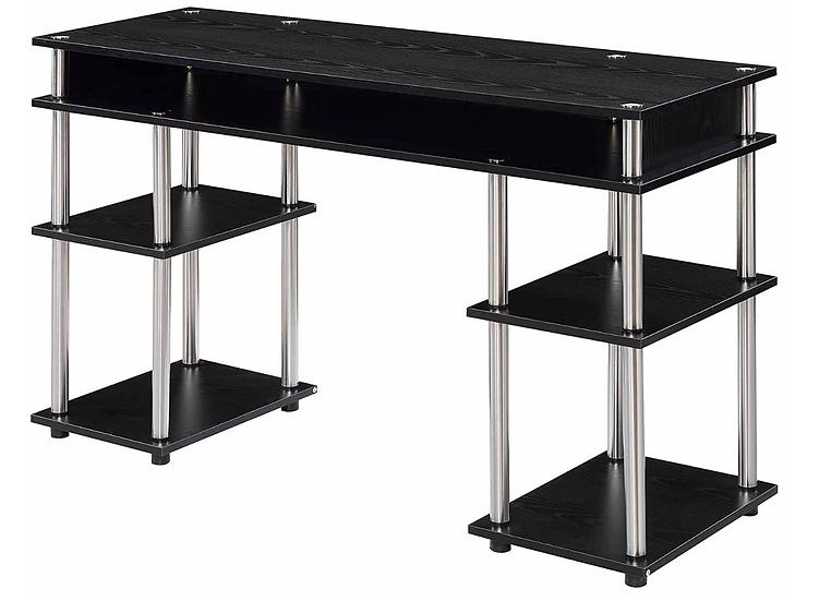 Convenience Concepts Coloured Modern Desk (Black)