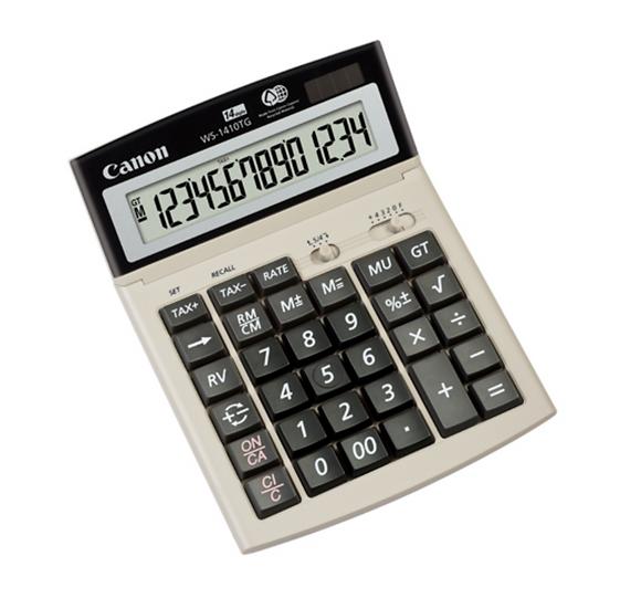 Canon WS-1410TG Mini Desk Calculator