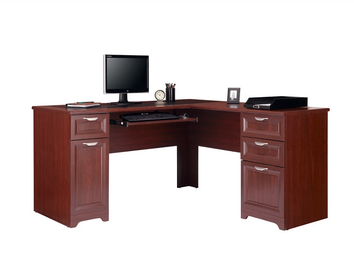 "Realspace® Magellan 59""W L-Shaped Desk (Classic Cherry)"