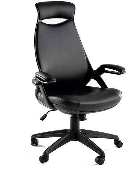 Adolavie Office Chair Leather Executive Ergonomic High-Back (Black)