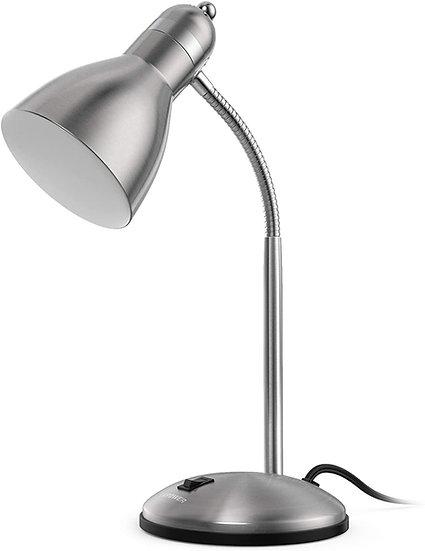 LEPOWER Metal Desk Lamp, Adjustable Goose Neck Table Lamp, Eye-Caring Study Desk