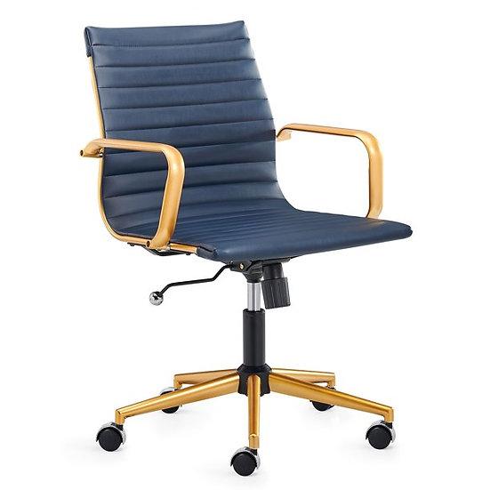CAROCC MidBack  Chair Gold & Blue