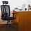 Thumbnail: Kasorix Manager's Mesh Chair with Lumbar Support (Black)